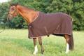 Odpocovací deka hnědá s růžovým lemem
