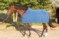 Odpocovací deka modrá pony